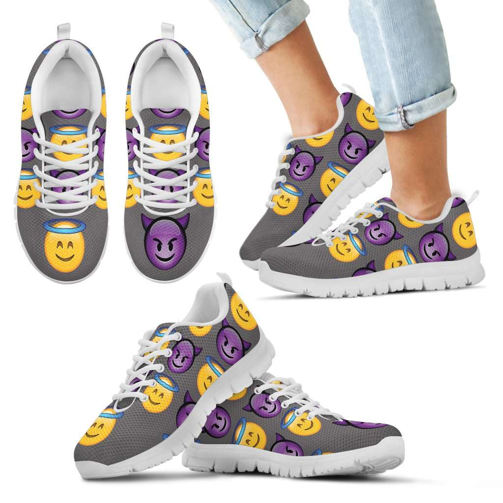 Emoji Good Vs Bad Kids Sneakers
