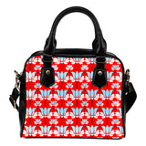 Betty Boop Themed Design B5 Women Fashion Shoulder Handbag Black Vegan Faux Leather