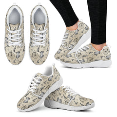 Mechanical Vintage Bike Steampunk Women Athletic Sneakers