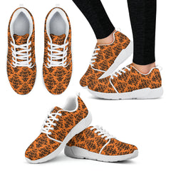 Damask Halloween Gothic Women Athletic Sneakers