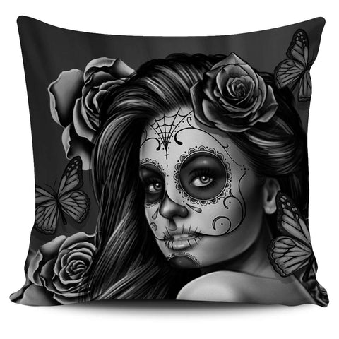 Sugar Skull Pillow Case - STUDIO 11 COUTURE