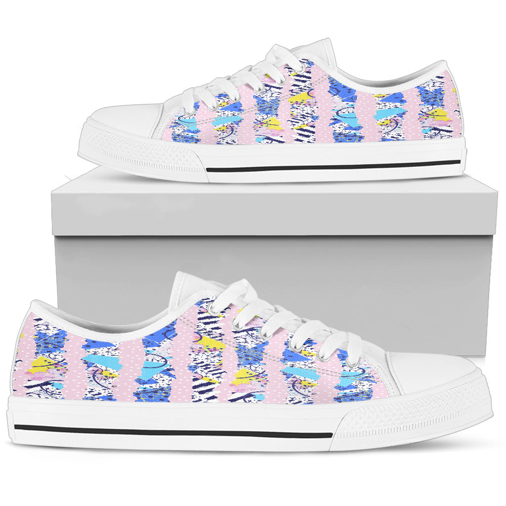 Fashion Pink Womens Low Top Shoes