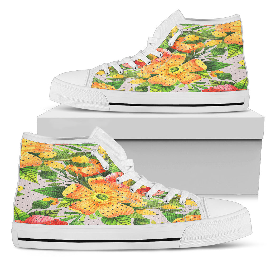 Amazing Floral Spring Women High Top Shoes