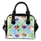 Ice Cream #4 Dessert Kawaii Lolita Theme Women Fashion Shoulder Handbag Black Vegan Faux Leather - STUDIO 11 COUTURE