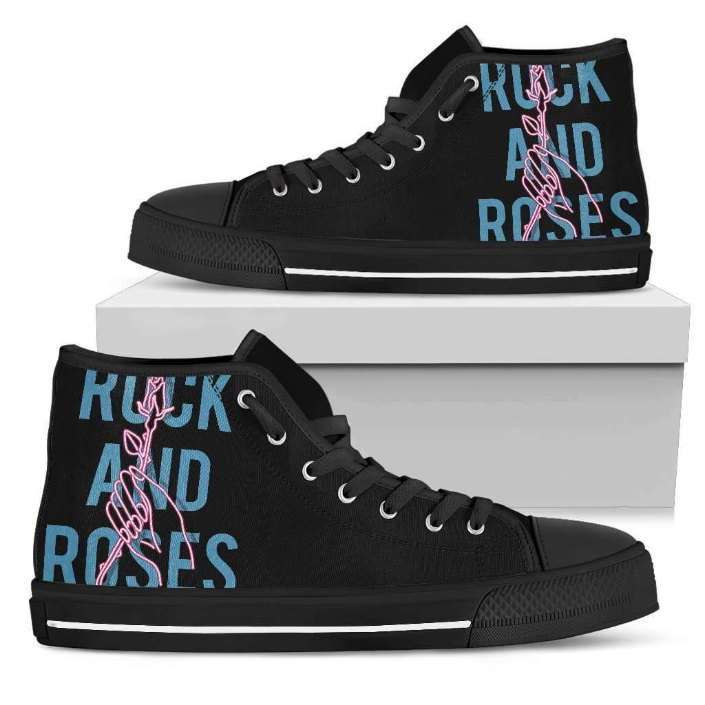 Rock And Roses Womens High Top Shoes