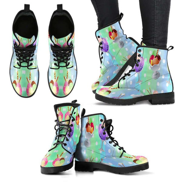Ice Cream Womens Leather Boots - STUDIO 11 COUTURE