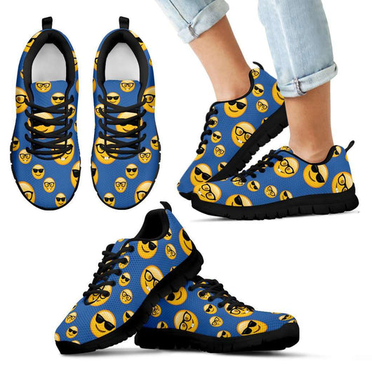 Emoji Glasses Kids Sneakers