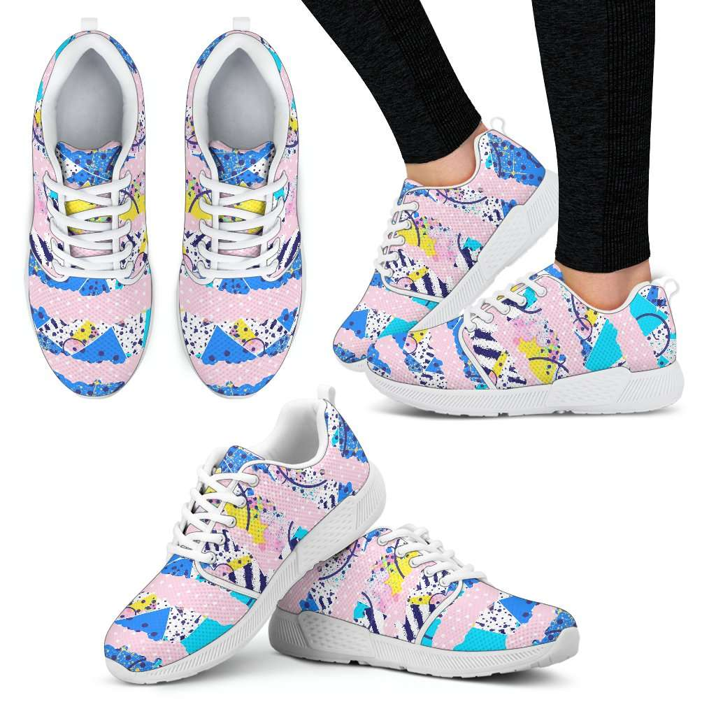 Fashion Pink Womens Athletic Sneakers