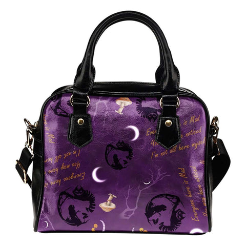 Alice In Wonderland Cheshire Cat Shoulder Handbag - STUDIO 11 COUTURE
