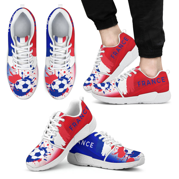 2018 FIFA World Cup France Mens Athletic Sneakers - STUDIO 11 COUTURE