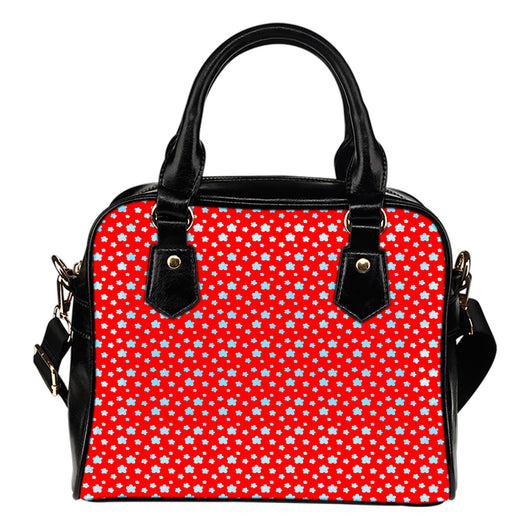 Betty Boop Themed Design B11 Women Fashion Shoulder Handbag Black Vegan Faux Leather