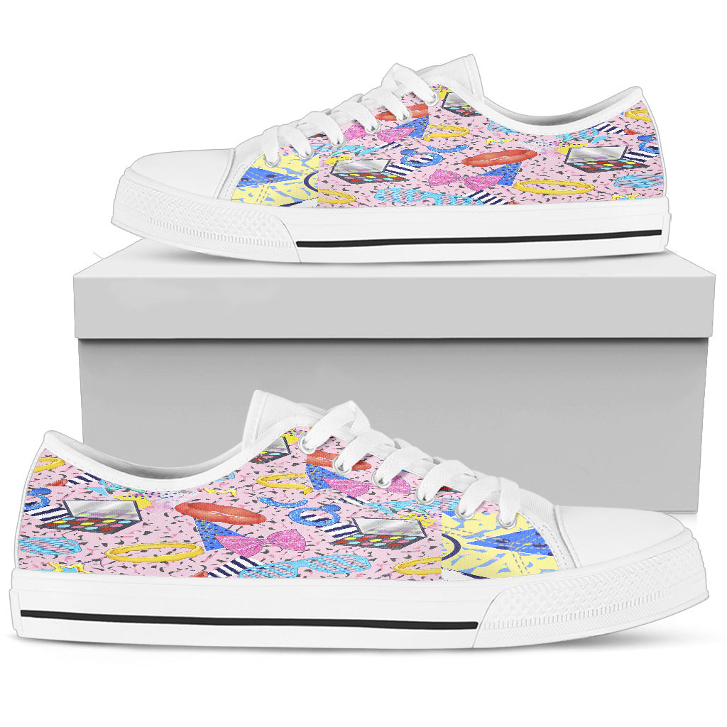 Fashion Make Up Womens Low Top Shoes