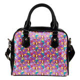 Mermaids Under The Sea Purple Shoulder Handbag - STUDIO 11 COUTURE