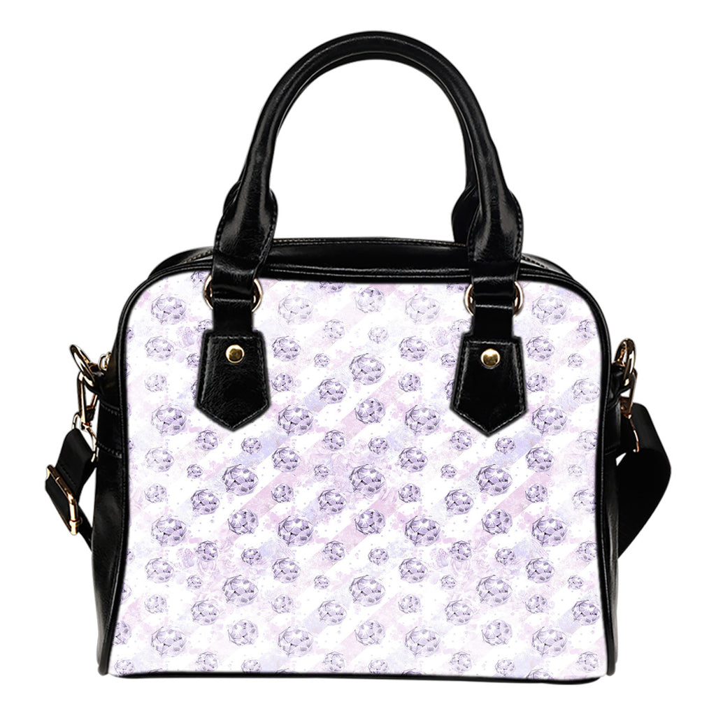 Lady Butterfly Themed Design B10 Women Fashion Shoulder Handbag Black Vegan Faux Leather