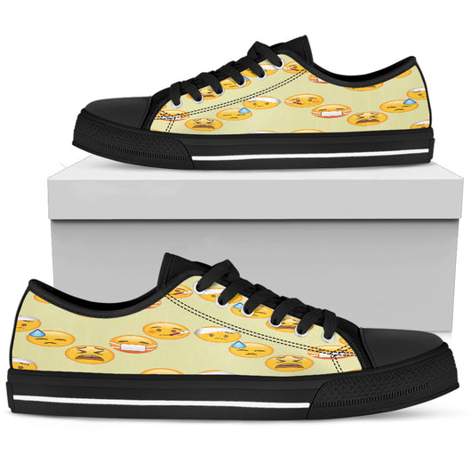 Emoji Sick Womens Low Top Shoes
