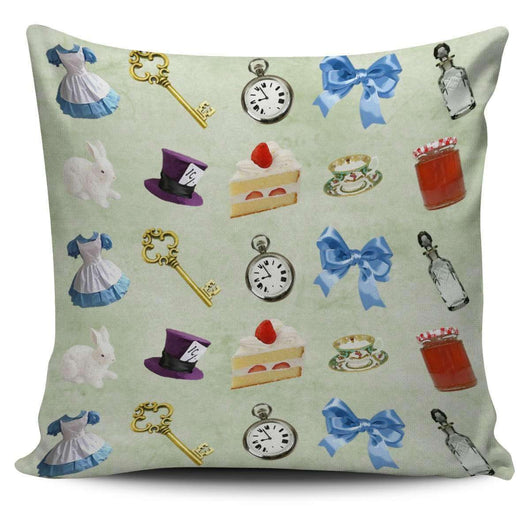 Alice in Wonderland and Mad Hatter Pillow Case - STUDIO 11 COUTURE