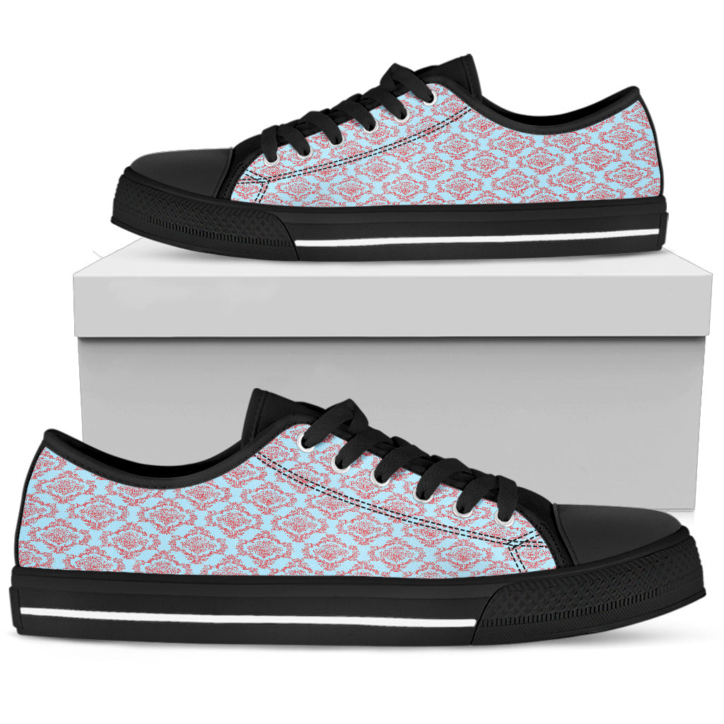 Betty Boop Floral Women Low Top Shoes
