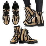 White Tiger Skin Womens Leather Boots - STUDIO 11 COUTURE