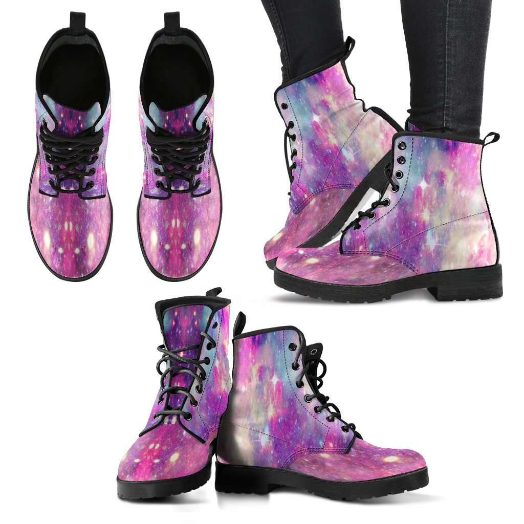 Galaxy Pastel Womens Leather Boots - STUDIO 11 COUTURE