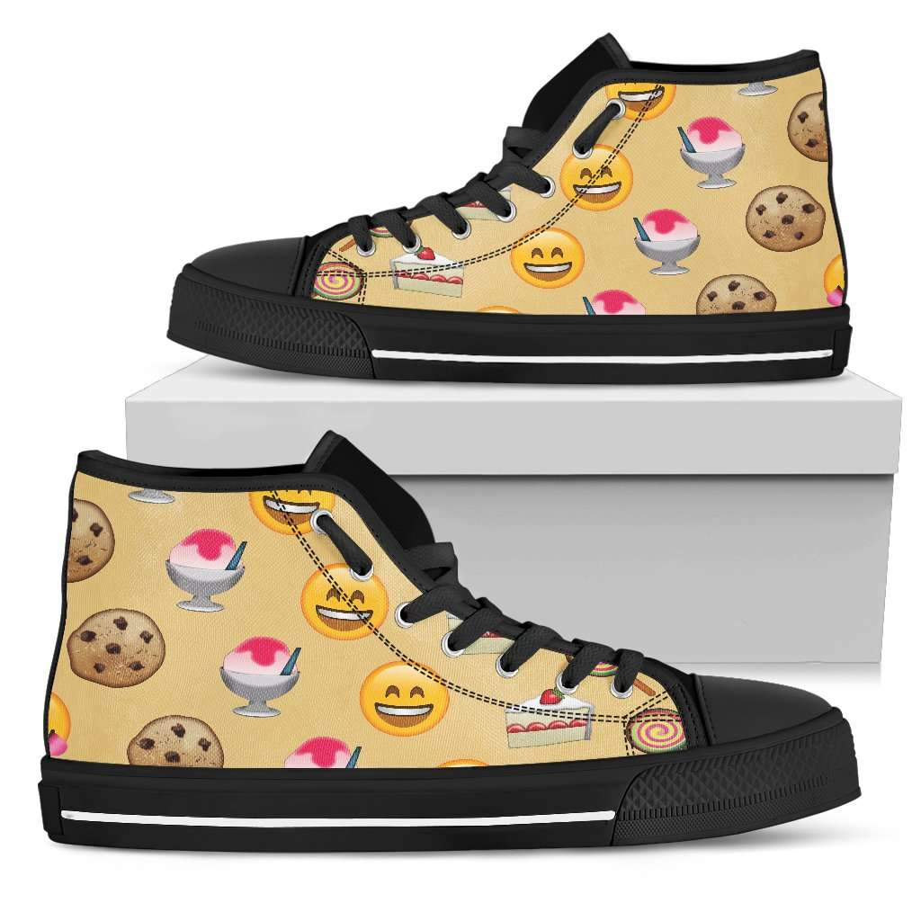 Emoji Sweets Womens High Top Shoes