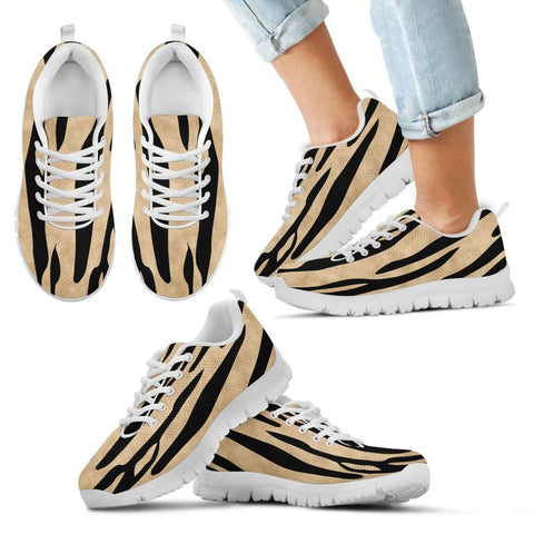 White Tiger Skin Kids Sneakers - STUDIO 11 COUTURE