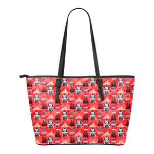 Vampire Themed Design C8 Women Small Leather Tote Bag