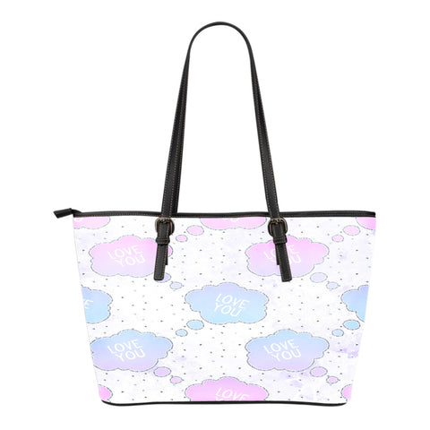 Unicorn Themed Design C2 Women Small Leather Tote Bag