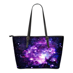 Galaxy Themed Design C3 Women Small Leather Tote Bag