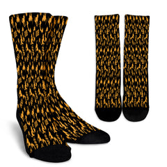 Orange Cat Halloween Crew Socks - STUDIO 11 COUTURE