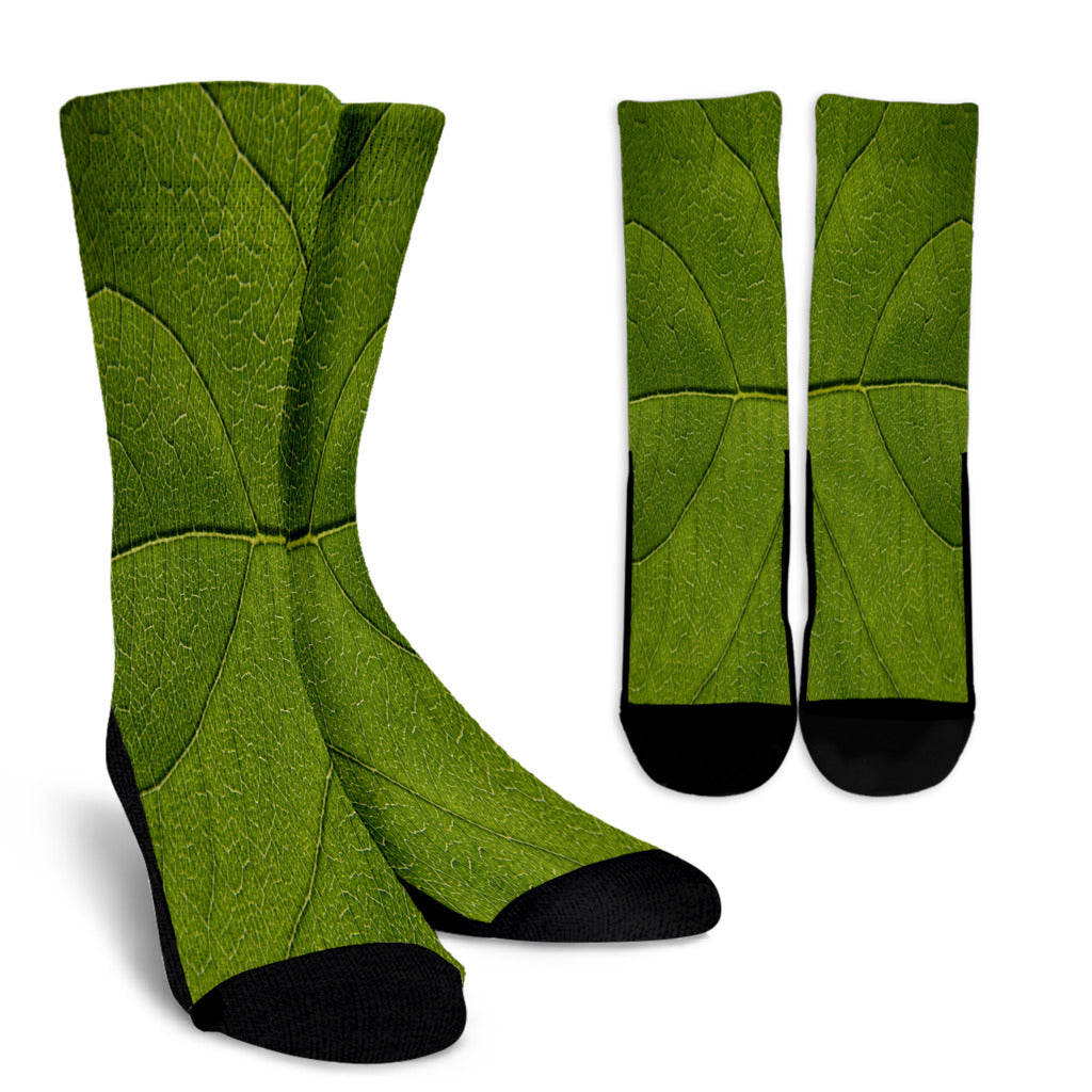 Leaf Crew Socks - STUDIO 11 COUTURE