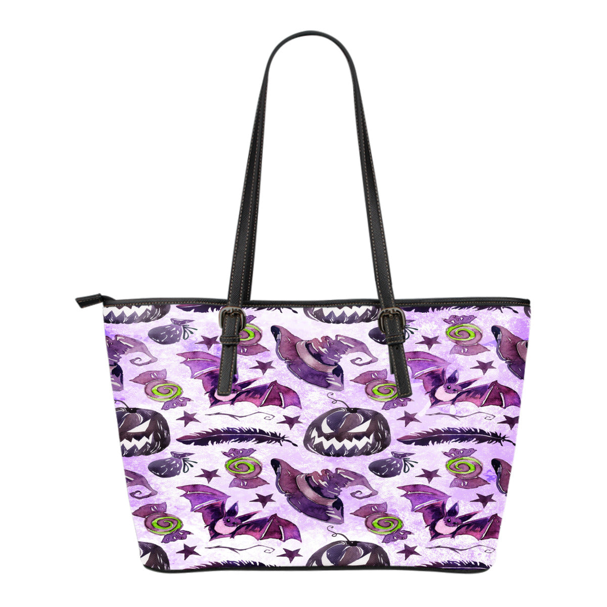 Witch Themed Design C7 Women Small Leather Tote Bag