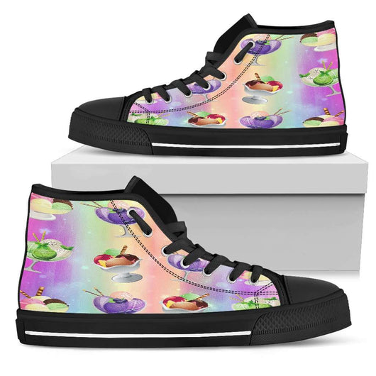 Ice Cream Women High Top Shoes - STUDIO 11 COUTURE