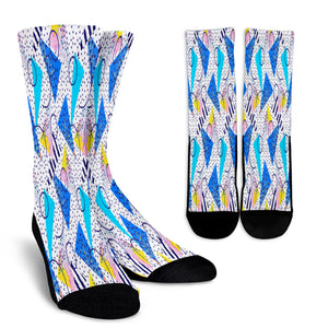 80s Curvy Fashion Girl Crew Socks