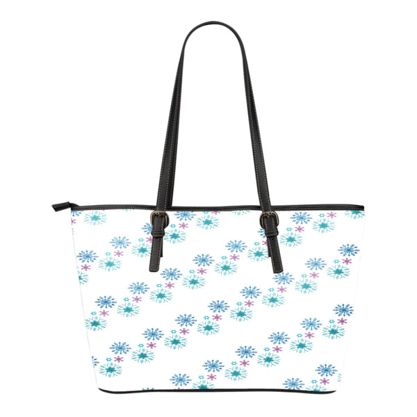 Frozen Themed Design C6 Women Small Leather Tote Bag