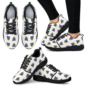 Snow White Mirror Faces Womens Athletic Sneakers