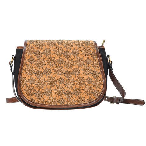 Trick or Treat (K3) Crossbody Shoulder Canvas Leather Saddle Bag - STUDIO 11 COUTURE