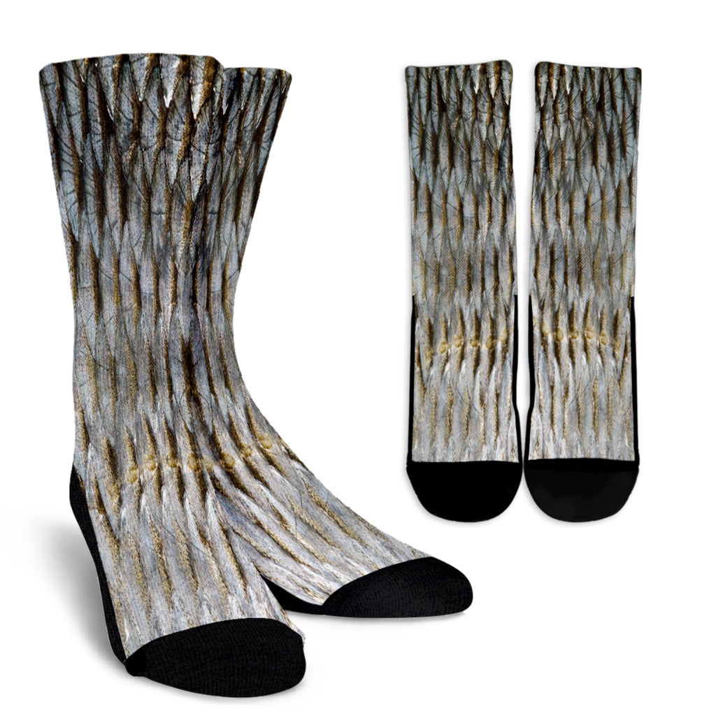Fish Scale Crew Socks
