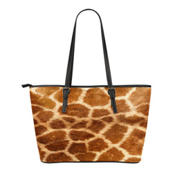 Animal Skin Texture Themed Design C11 Women Small Leather Tote Bag