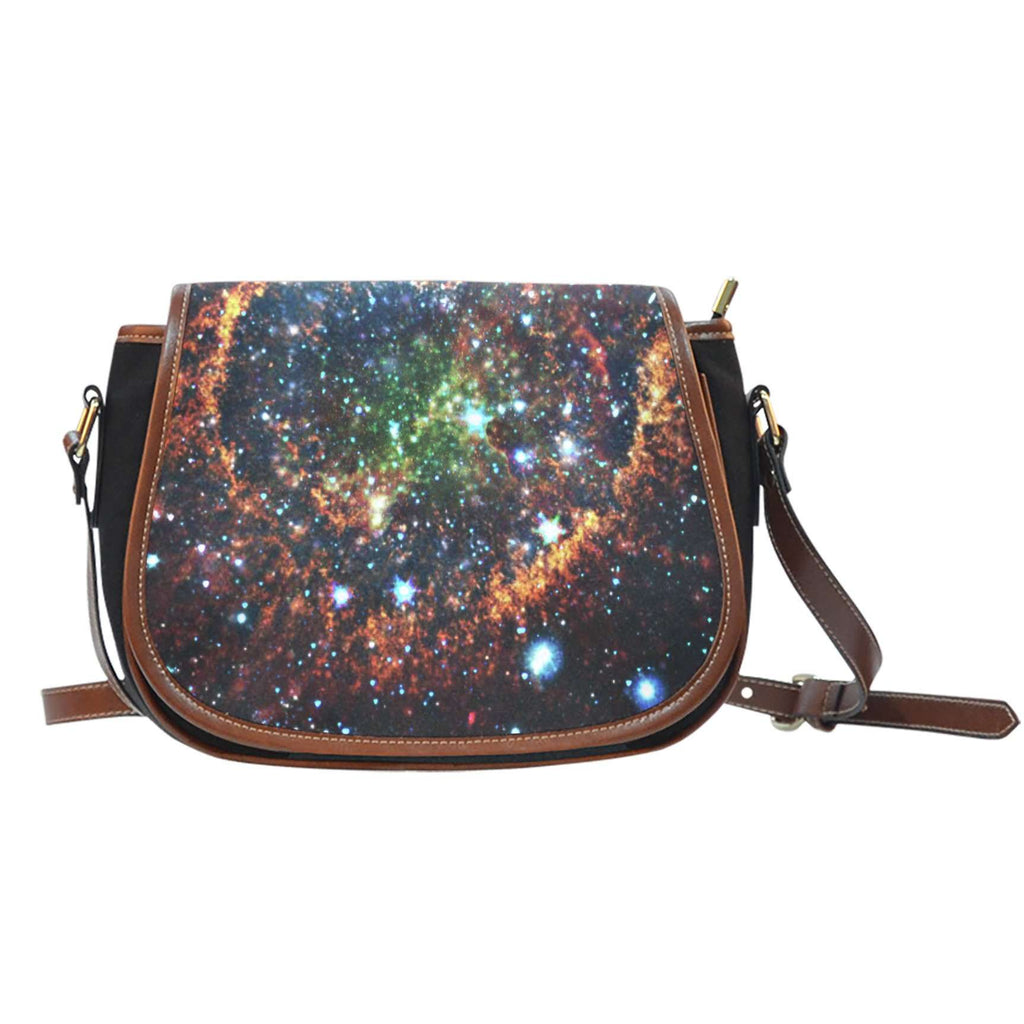 Galaxy 5 Crossbody Shoulder Canvas Leather Saddle Bag - STUDIO 11 COUTURE
