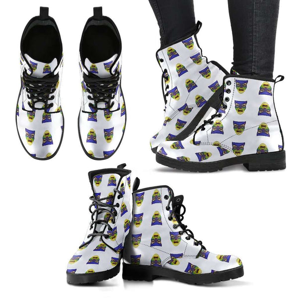 Snow White Mirror Faces Womens Leather Boots - STUDIO 11 COUTURE