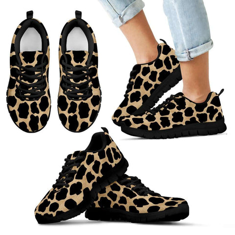 White Leopard Skin Kids Sneakers - STUDIO 11 COUTURE