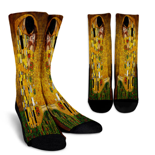 Gustav Klimt The Kiss Crew Socks - STUDIO 11 COUTURE