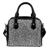 Leopard Print Themed Design B1 Women Fashion Shoulder Handbag Black Vegan Faux Leather