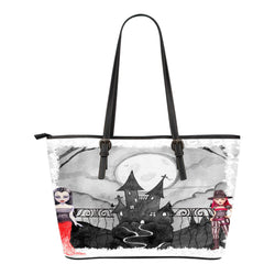 Vampire Themed Design C14 Women Small Leather Tote Bag