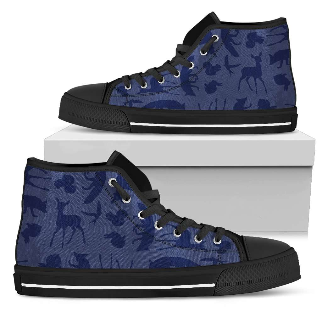 Woodland Creatures Purple Womens High Top Shoes - STUDIO 11 COUTURE