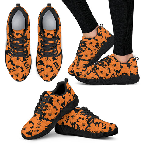 Black Cat Halloween Women Athletic Sneakers