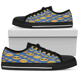 Emoji Glasses Womens Low Top Shoes