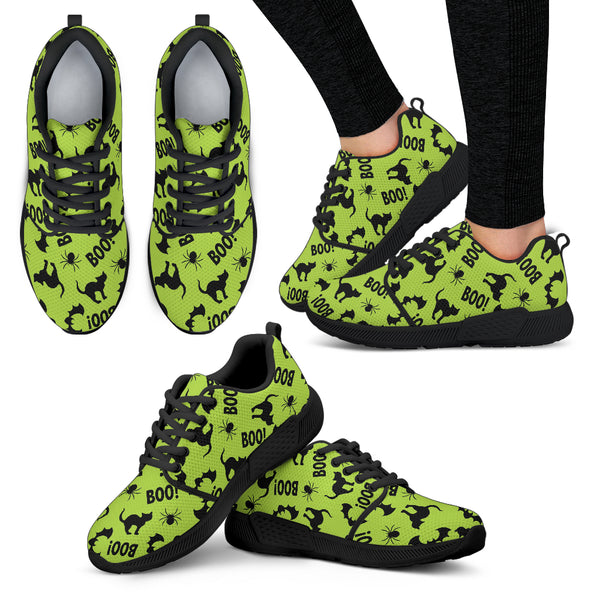 Black Cat Halloween Gothic Women Athletic Sneakers