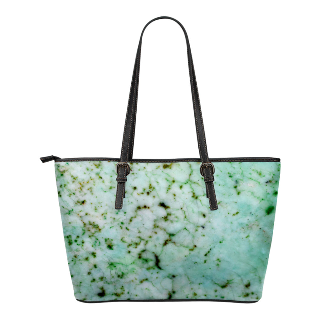 Marble Themed Design C12 Women Large Leather Tote Bag