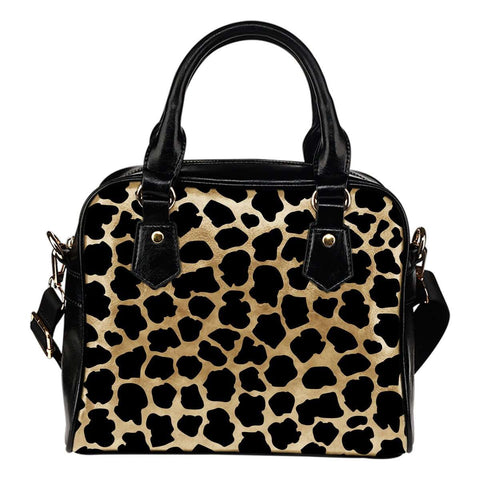 Animal Prints White Leopard Shoulder Handbag